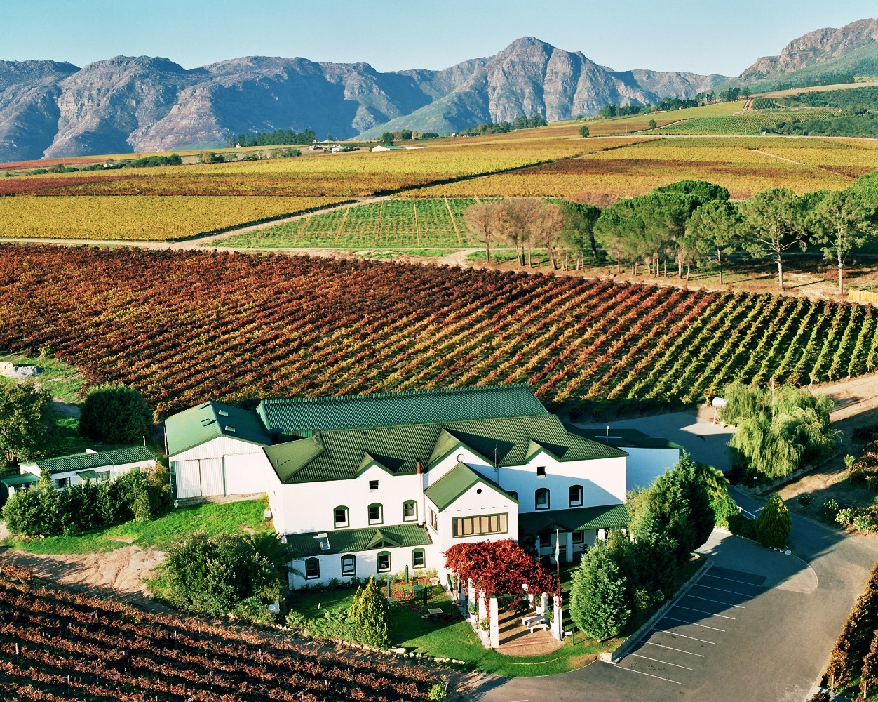 Winery from the air avontuur estate stellenbosch for Jardin wine south africa